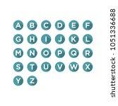 alphabet flat design ui