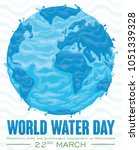 poster with watery design of... | Shutterstock .eps vector #1051339328