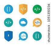 programmer code icon vector.... | Shutterstock .eps vector #1051350236