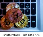 bitcoins are copper  gold and...   Shutterstock . vector #1051351778