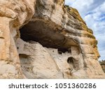 caves and cliffs with ancient... | Shutterstock . vector #1051360286