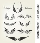 wings collection | Shutterstock .eps vector #105136832