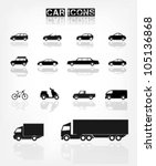 different transports icon   Shutterstock .eps vector #105136868