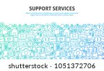 support services concept.... | Shutterstock .eps vector #1051372706