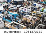 Small photo of BUDAPEST, HUNGARY, MARCH 07, 2018 - People walk around the boothes at HVG Job Fair, the biggest job fair event in Hungary