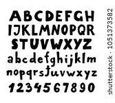 vector hand drawn bold font.... | Shutterstock .eps vector #1051373582