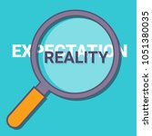 expectation vs reality concept... | Shutterstock .eps vector #1051380035