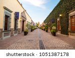 colonial street of tequila in... | Shutterstock . vector #1051387178