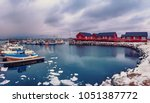 scenic view of beautiful winter ... | Shutterstock . vector #1051387772