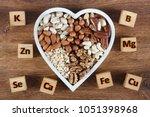 microelements in different... | Shutterstock . vector #1051398968
