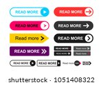 set of read more colorful... | Shutterstock .eps vector #1051408322