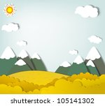 Vector Applique. Mountain...