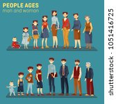 people at different stages of... | Shutterstock .eps vector #1051416725