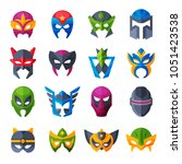 hero mask vector superhero face ... | Shutterstock .eps vector #1051423538