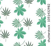 exotic seamless pattern with... | Shutterstock .eps vector #1051432982