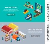 industrial machines isometric... | Shutterstock .eps vector #1051434395