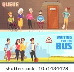 people in queues in doctors... | Shutterstock .eps vector #1051434428