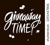 giveaway vector lettering...