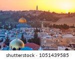 jerusalem. cityscape image of...   Shutterstock . vector #1051439585