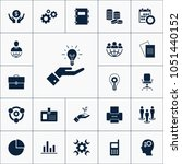 vector set of business icons....   Shutterstock .eps vector #1051440152