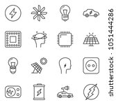 thin line icon set  ... | Shutterstock .eps vector #1051444286