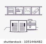 office supplies design | Shutterstock .eps vector #1051446482