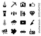 solid vector icon set   round... | Shutterstock .eps vector #1051454702