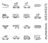 thin line icon set   eco car... | Shutterstock .eps vector #1051455272