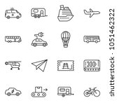 thin line icon set   paper... | Shutterstock .eps vector #1051462322