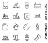 thin line icon set   table lamp ... | Shutterstock .eps vector #1051462352