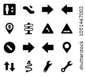 solid vector icon set  ...   Shutterstock .eps vector #1051467002