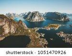 norway landscape reinebringen...   Shutterstock . vector #1051470926