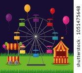 carnival  fair festival | Shutterstock .eps vector #1051475648