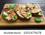 delicious traditional italian... | Shutterstock . vector #1051475678