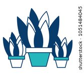 set of potted plants | Shutterstock .eps vector #1051484045