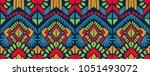 ikat geometric folklore... | Shutterstock .eps vector #1051493072