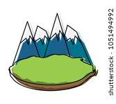 alps peakes icon    Shutterstock .eps vector #1051494992