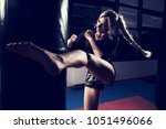gorgeous female fighter with...   Shutterstock . vector #1051496066