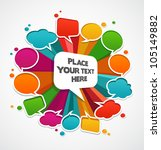 speech bubbles background | Shutterstock .eps vector #105149882