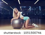 pretty woman with long blonde...   Shutterstock . vector #1051500746