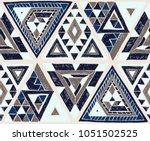 indian geometric folklore... | Shutterstock .eps vector #1051502525