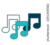 social media button music notes | Shutterstock .eps vector #1051505582
