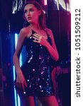 brunette woman wearing elegant... | Shutterstock . vector #1051509212