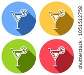 cocktail. simple silhouette.... | Shutterstock .eps vector #1051512758