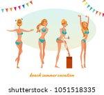 character cartoon woman in...   Shutterstock .eps vector #1051518335