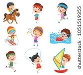 vector illustration of kids...   Shutterstock .eps vector #1051519355