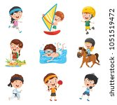 vector illustration of kids... | Shutterstock .eps vector #1051519472