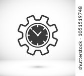 time management icon. clock and ... | Shutterstock .eps vector #1051519748