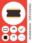 icon flat technology set of... | Shutterstock . vector #1051526462