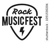 rock fest badge label vector....   Shutterstock .eps vector #1051530206